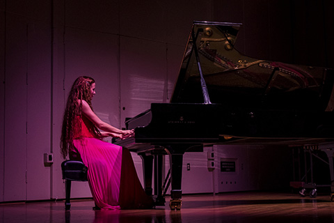 pianist performing in concert