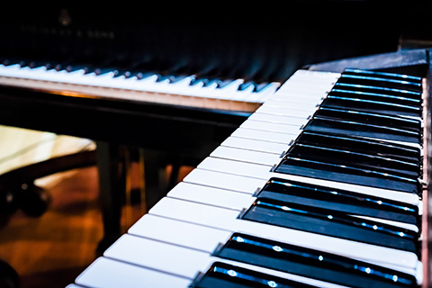 close up image of the keys of a piano